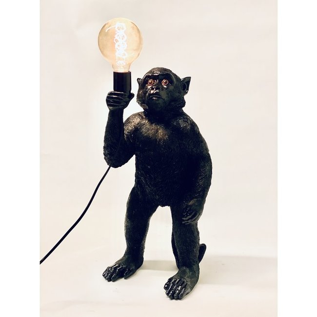 Tafellamp - Dierenlamp Zwarte Aap - staand
