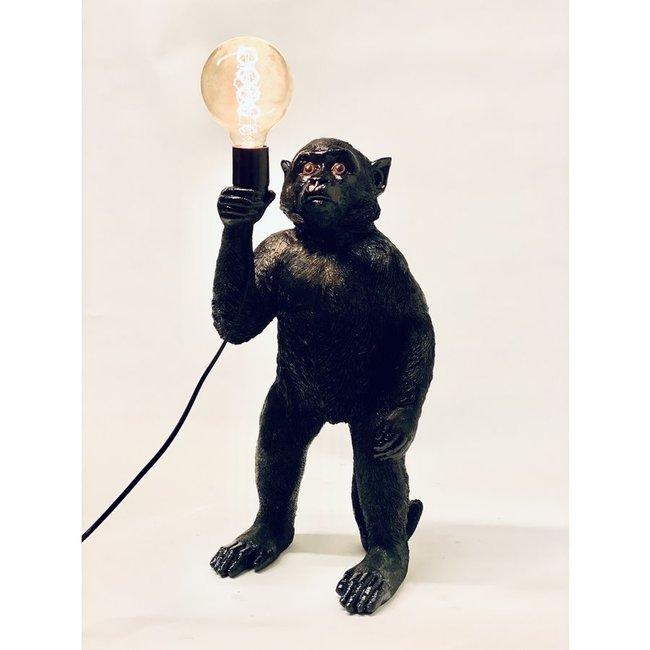 Tischlampe - Tierlampe Schwarzer Affe  - stehend