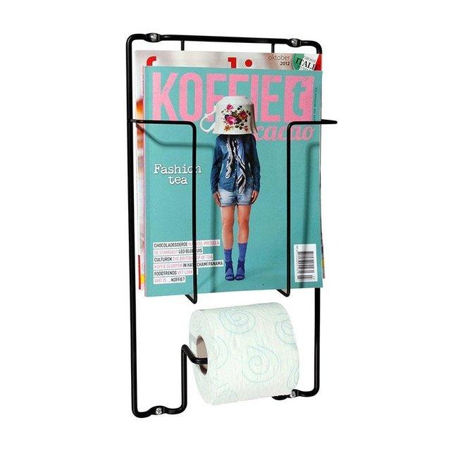 Toilettenpapierhalter - Zeitschriftenhalter - Wand