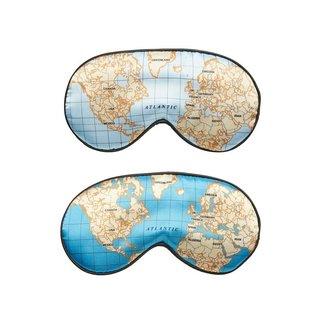 Kikkerland Slaapmasker Wereldkaart