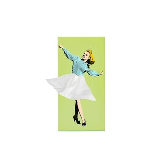 Luf Design Tissuehouder Tissue Up Girl - groen