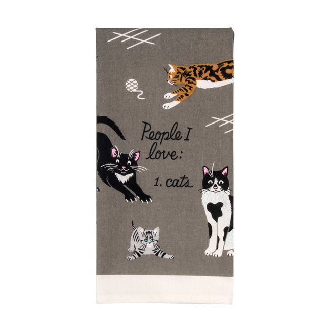 Blue Q Torchon De Cuisine People I Love: Cats