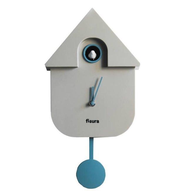 Fisura Uhr - Kuckucksuhr Cuckoo House - grau