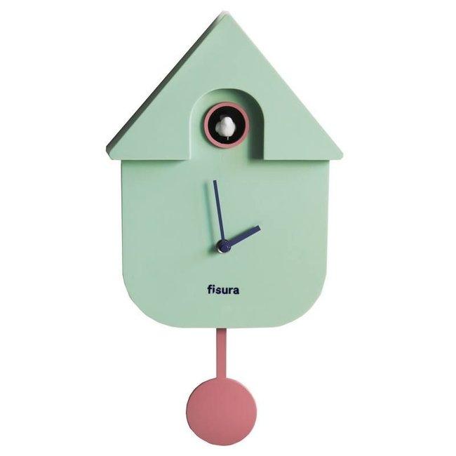 Fisura Klok - Koekoeksklok Cuckoo House - munt