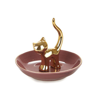 Balvi Jewelry Holder Golden Cat
