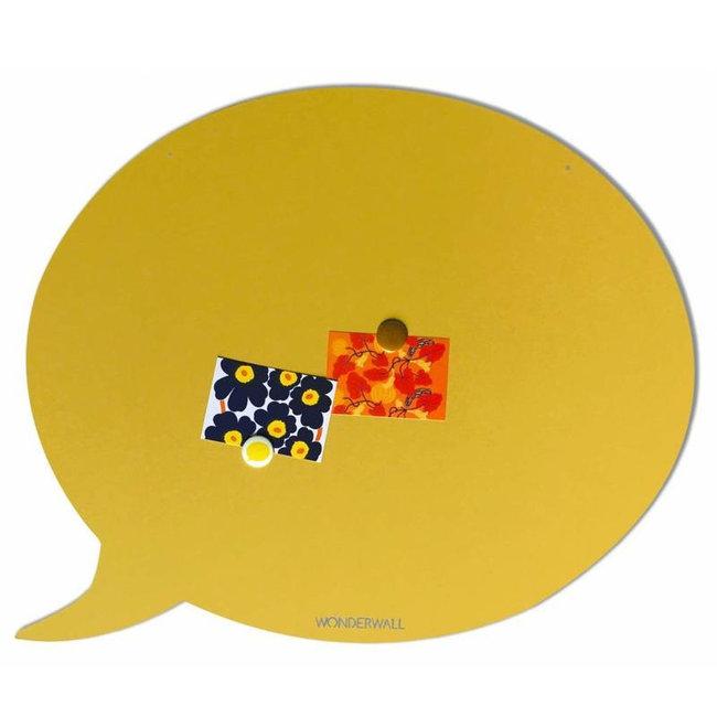 Wonderwall Magneetbord Tekstballon  - zandgeel - medium