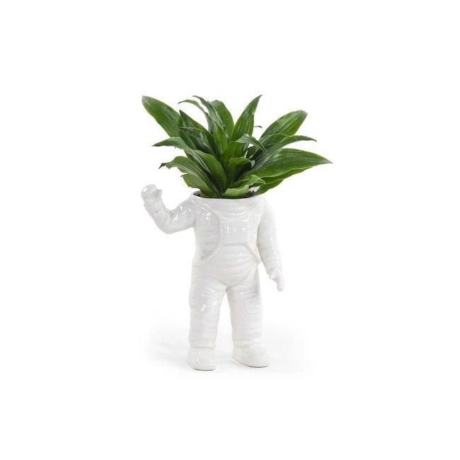 Bitten - Blumentopf Winkender Astronaut - large - Keramik