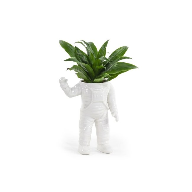 Bitten Planter Waving Astronaut - large