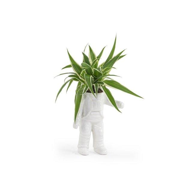 Bitten - Blumentopf Winkender Astronaut - Keramik - klein