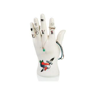 Bitten Juwelenhouder Tattoo Hand