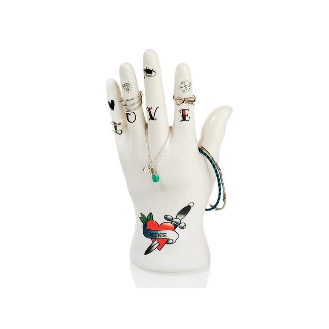 Bitten Schmuckhalter Tattoo Hand