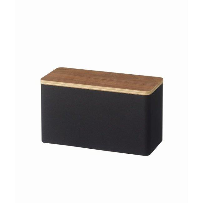 Yamazaki Sanitary Storage Box - Make Up - black