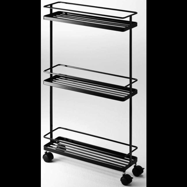 Yamazaki Storage Cart - Kitchen Trolley Tower2 - black