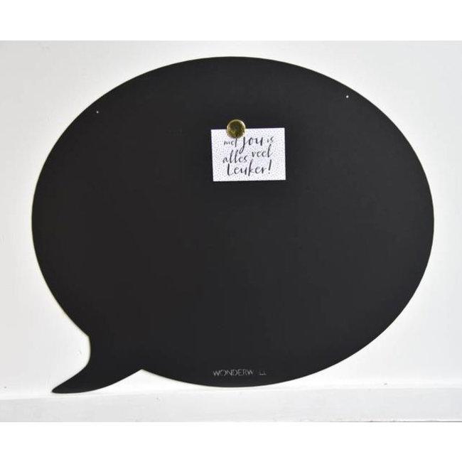 FAB5 Wonderwall Tableau Magnétique Bulle de Texte - large - noir