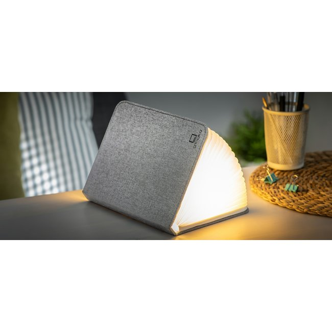 Gingko Smart Book Light - large - grey fabric
