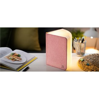 Gingko Smart Book Light - large - pink fabric
