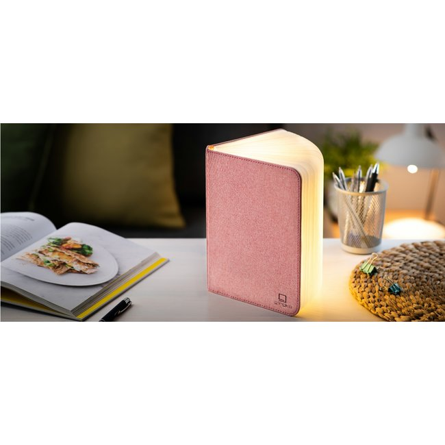 Gingko Smart Book Light - large - roze stof
