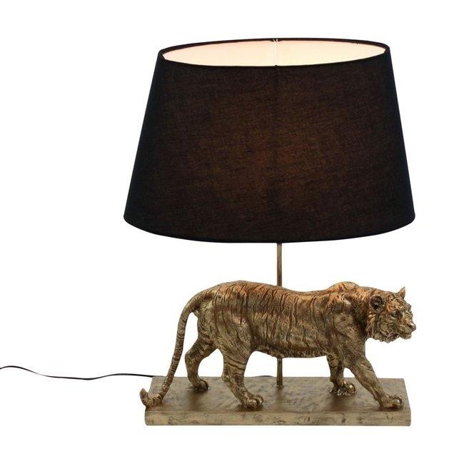 Werner Voß - Tafellamp - Dierenlamp Tijger - goud zwart - H 58 cm