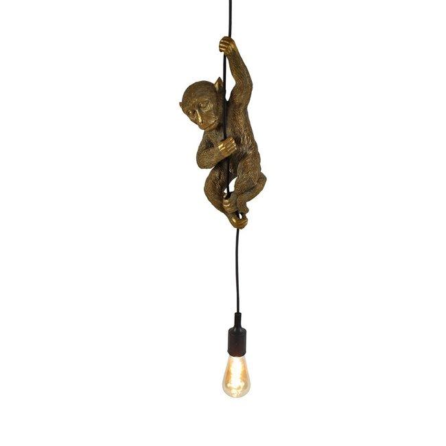 Werner Voß - Hängelampe - Tierlampe Affe - Gold