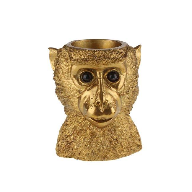 Werner Voß Übertopf Goldener Affe