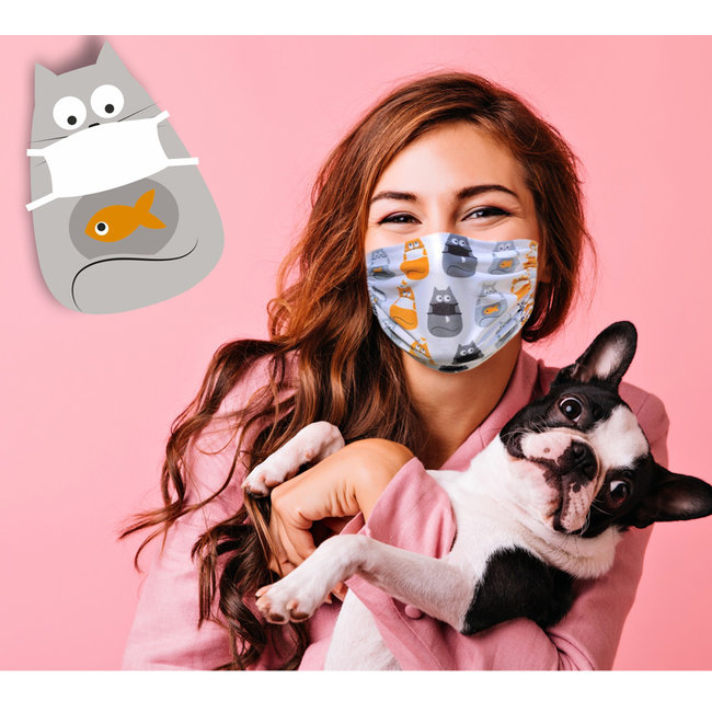 Silly Masks Masque Buccal Silly Cats