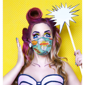 Silly Masks Masque Buccal Popart