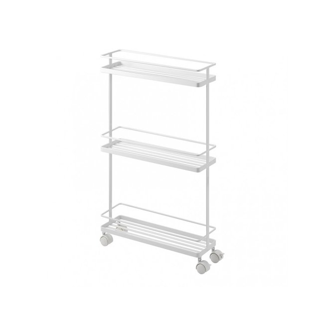 Yamazaki Storage Cart - Kitchen Trolley Tower2 - white