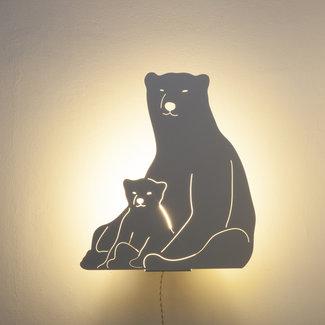 Goodnight Light Decoupage Lamp Polar Bear
