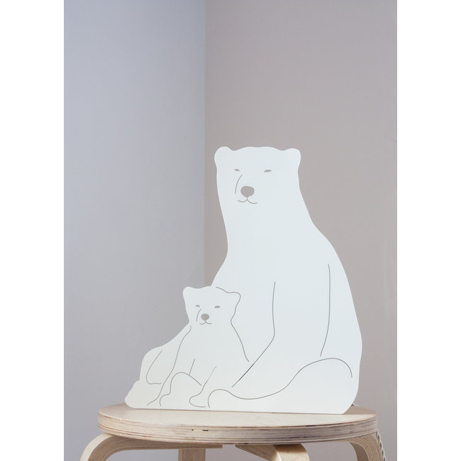 Goodnight Light Decoupage Lamp Polar Bear