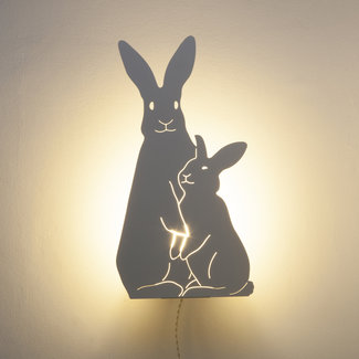 Goodnight Light Decoupage Lamp Konijntjes