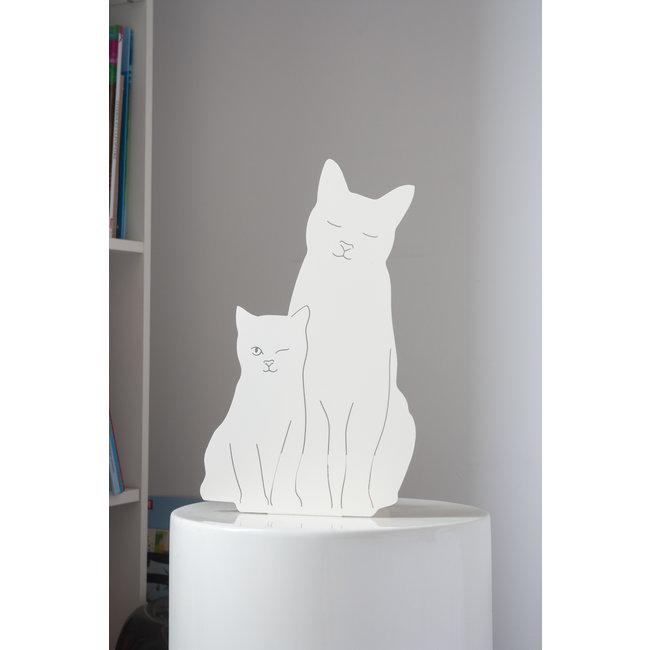 Goodnight Light Decoupage Lamp Kitties