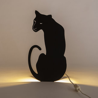 Goodnight Light Decoupage-Lampe Panther
