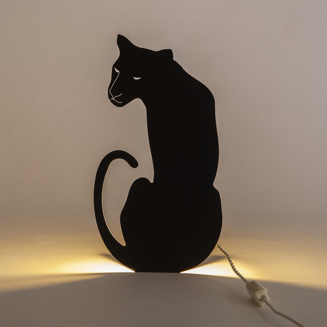 Goodnight Light Decoupage Lamp Panter
