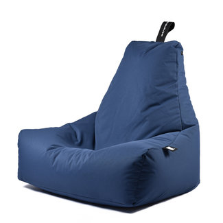 Extreme Lounging Beanbag Pouf B-Bag Mighty-B - outdoor bleu foncé