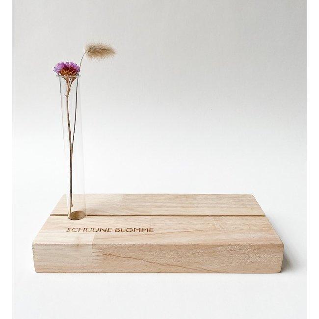 Fotoregal mit Vase Schuune Blomme