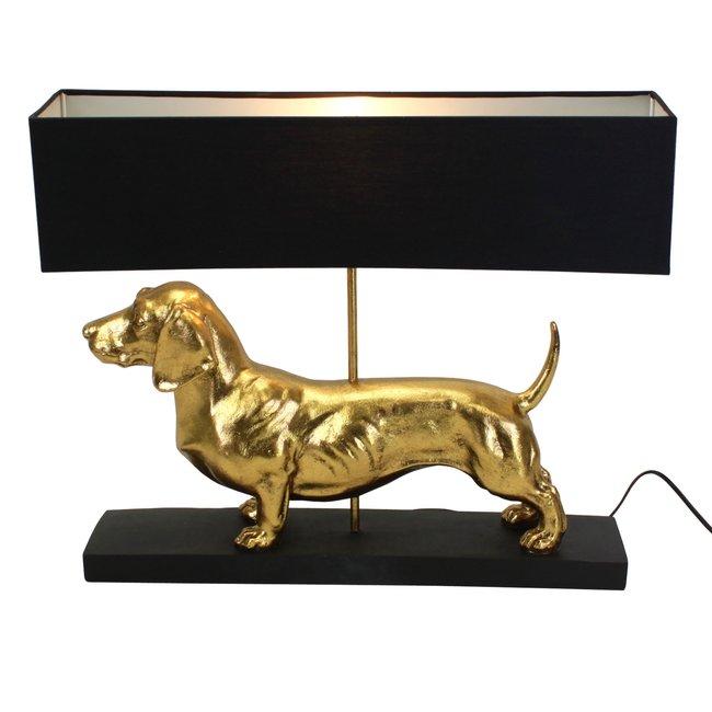 Werner Voß - Tafellamp - Dierenlamp Teckel Vienna - goud