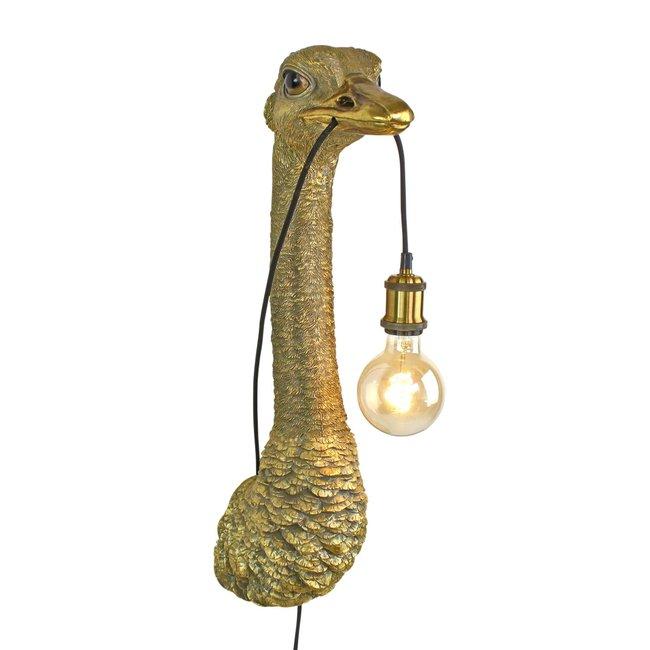 Werner Voß - Wandleuchte - Tierlampe Strauß Franz Josef - H 72 cm