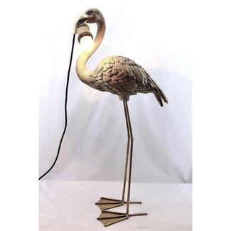 Tafellamp Gouden Flamingo zonder kap