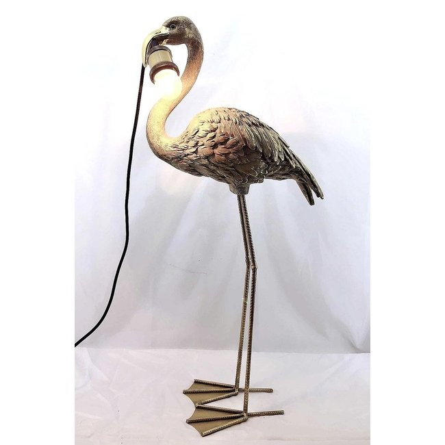 Table Lamp Golden Flamingo without lampshade