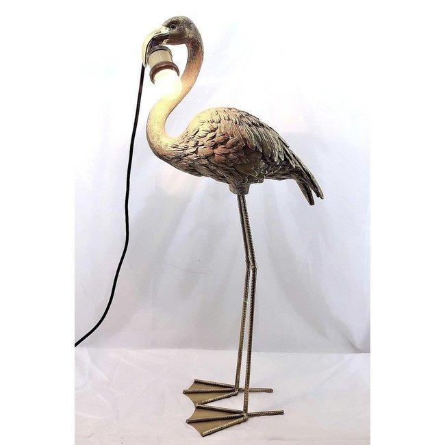 Tafellamp - Dierenlamp Gouden Flamingo - zonder Kap - H 75 cm