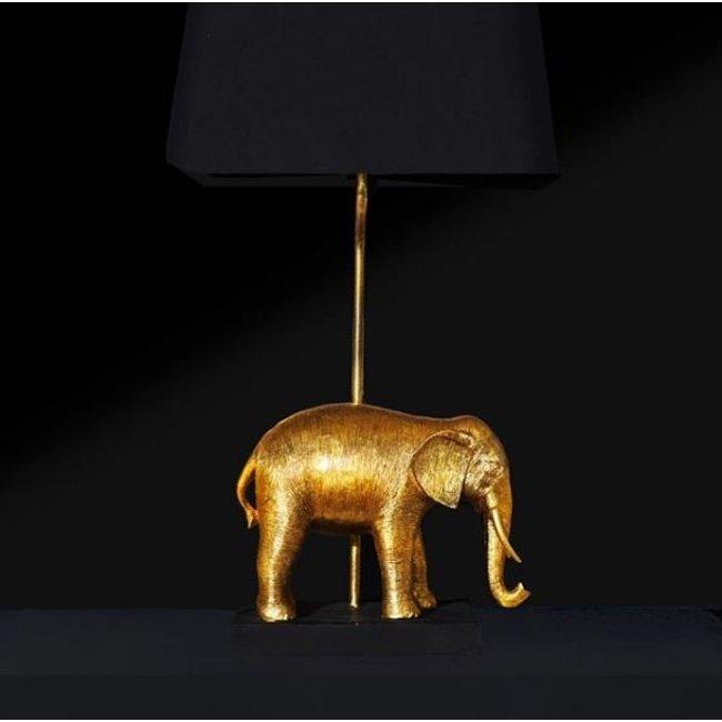 Werner Voß - Lampe de Table - Lampe Animale Eléphant Doré- H 64 cm