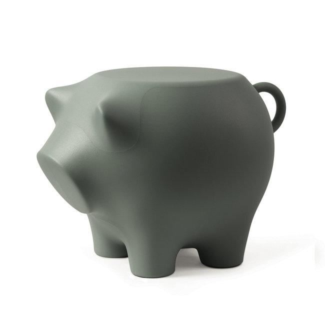 Werkwaardig Hocker - Beistelltisch Schwein - olivgrün