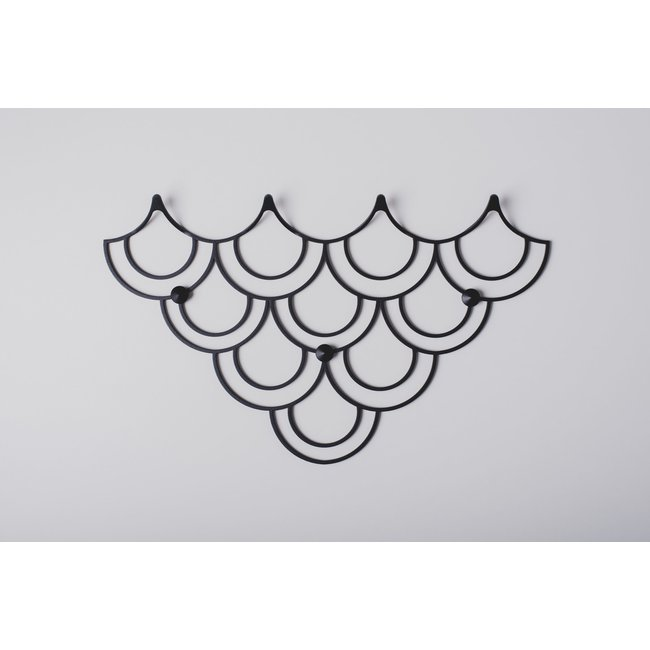 Polyhedra - Garderobe Creative Hanger Husk S - schwarz