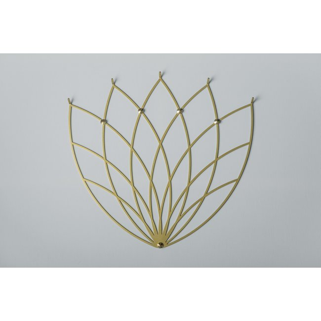 Polyhedra - Garderobe Creative Hanger Lotus M Gold