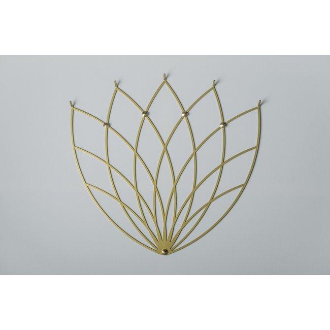 Polyhedra - Porte-Manteau Creative Hanger Lotus M Doré