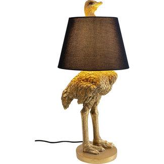 Karé Design Lampe de Table Autruche Dorée