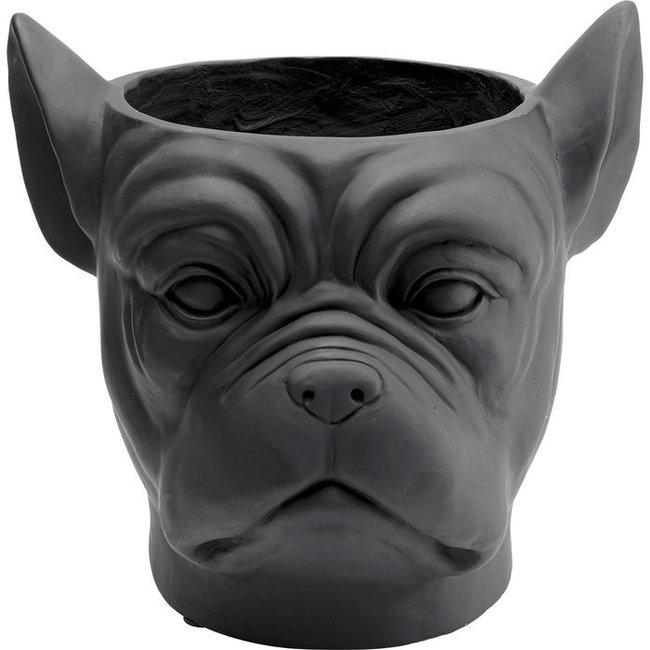 Karé Design - Bloempot - Cachepot Bulldog - zwart
