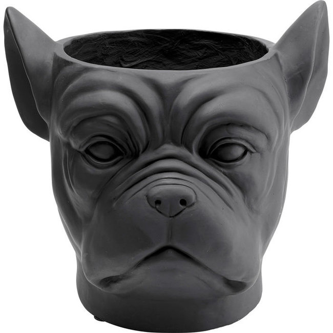 Karé Design - Blumentopf - Übertopf Bulldogge - schwarz