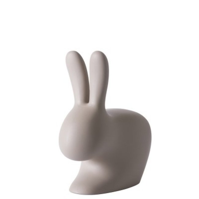 Qeeboo Chaise - Tabouret Rabbit Chair Baby - gris colombe - H 53 cm