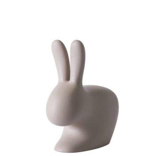 Qeeboo Stuhl - Hocker Rabbit Chair Baby - taubengrau - H 53 cm
